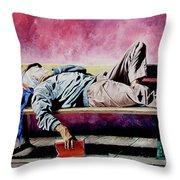 The Traveler 1 - El Viajero 1 Throw Pillow by Rezzan Erguvan-Onal