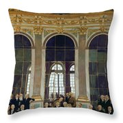 The Treaty Of Versailles Throw Pillow by Sir William Orpen