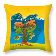 The Tree Of Life. From The Viking Saga. Throw Pillow by Jarle Rosseland