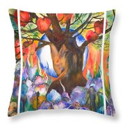 The Tree Of Life Throw Pillow by Kate Bedell