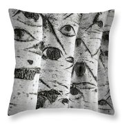 The Trees Have Eyes Throw Pillow by Wim Lanclus