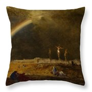 The Triumph At Calvary Throw Pillow by George Inness
