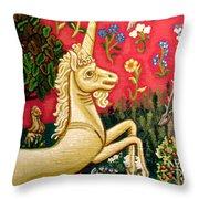 The Unicorn Throw Pillow by Genevieve Esson