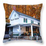 The Valley Green Inn in Autumn Throw Pillow by Bill Cannon