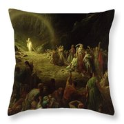 The Valley of Tears Throw Pillow by Gustave Dore