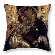 The Virgin Of Vladimir Throw Pillow by Granger