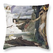 The Vision Throw Pillow by Luc-Oliver Merson