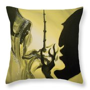 The Wand of Destiny Throw Pillow by Lisa Leeman