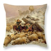 The Warmth of a Wee Dram Throw Pillow by TS Cooper