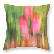 The Watercolor Garden Throw Pillow by Aimelle