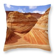 The Wave I Throw Pillow by Chad Dutson