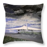 The White Vulcan Throw Pillow by Mike Lester