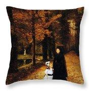 The Widow Throw Pillow by Horace de Callias