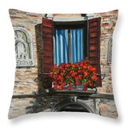 The Window Throw Pillow by Charlotte Blanchard