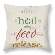 The Work of Christmas Begins Throw Pillow by Judy Dodds