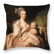The Young Mother Throw Pillow by Jean Laurent Mosnier