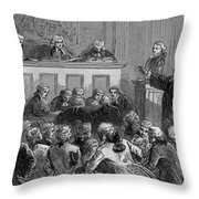 The Zenger Case, 1735 Throw Pillow by Photo Researchers