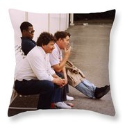 Then There Were Three Throw Pillow by Harvie Brown