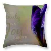 Thing Of Beauty Throw Pillow by Bonnie Bruno