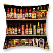 Things Get Hot In New Orleans Throw Pillow by Kim Fearheiley