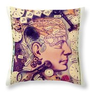 Thinking Throw Pillow by Garry Gay
