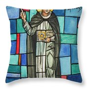 Thomas Aquinas Italian Philosopher Throw Pillow by Photo Researchers