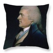 Thomas Jefferson Throw Pillow by James Sharples