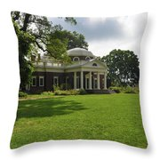 Thomas Jefferson's Monticello Throw Pillow by Bill Cannon