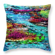 Thought Upon A Stream Throw Pillow by David Lane