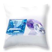 Three Jewel Throw Pillow by Atiketta Sangasaeng