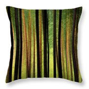 Through the Woods Throw Pillow by Svetlana Sewell