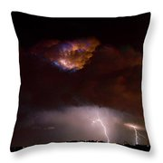 Thunderstorm Boulder County 08-15-10 Throw Pillow by James BO  Insogna