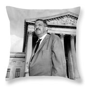 Thurgood Marshall Throw Pillow by Granger