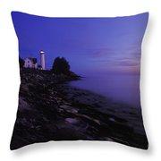 Tibbetts Point Lighthouse Sunset - Fm000014 Throw Pillow by Daniel Dempster