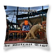 Tigers Win Throw Pillow by Dave Manning