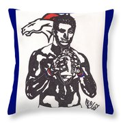 Tim Tebow 2 Throw Pillow by Jeremiah Colley