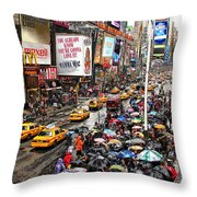 Times Square 1 Throw Pillow by Andrew Fare