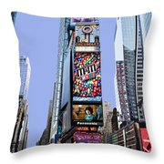 Times Square Nyc Throw Pillow by Kelley King