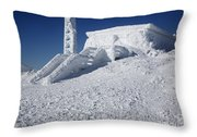 Tip Top House - Mount Washington New Hampshire  Throw Pillow by Erin Paul Donovan