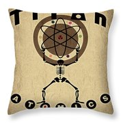 Titan Atomics Throw Pillow by Cinema Photography