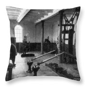 Titanic: Exercise Room, 1912 Throw Pillow by Granger