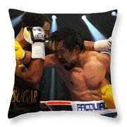 Title Bout Throw Pillow by Snake Jagger