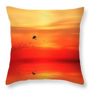 To Autumn Throw Pillow by Lourry Legarde