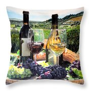 Toast Of The Valley Throw Pillow by Gail Chandler