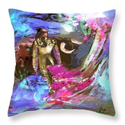 Toroscape 07 Throw Pillow by Miki De Goodaboom