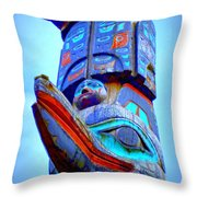 Totem 42 Throw Pillow by Randall Weidner