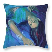 Touching the ephemeral Throw Pillow by Dorina  Costras