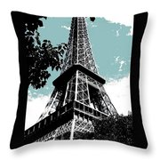 Tour Eiffel Throw Pillow by Juergen Weiss