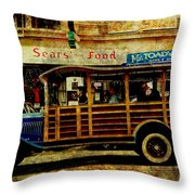 Touring The Streets of San Francisco . texture Throw Pillow by Wingsdomain Art and Photography