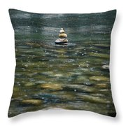 Tower Of Stones Throw Pillow by Joana Kruse